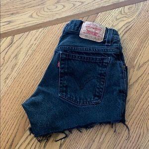 Vintage 550 Levi's Highwaisted Shorts